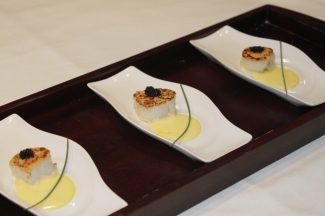 Seared  Scallops with  Beurre  Blanc